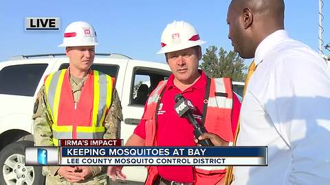 Lee County staging area for storm recovery