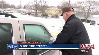 Slick side streets as crews work to clear roads - Video