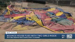 Two children injured after bounce house flies 20+ feet in the air