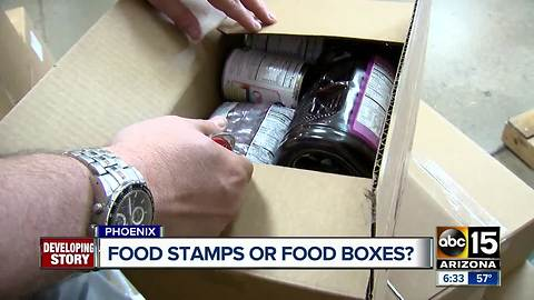 Proposed food boxes to replace food stamps drawing criticism