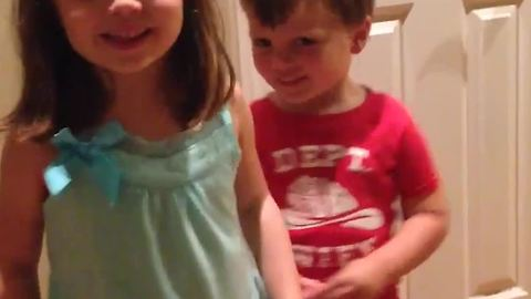 Brother And Sister Sing Happy Birthday