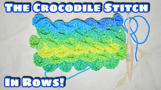 How to Crochet the Crocodile Stitch in Rows