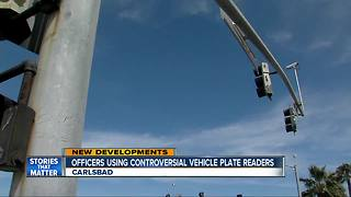 Carlsbad officers using controversial vehicle plate readers - Video