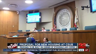 Proposal for new housing at CSUB