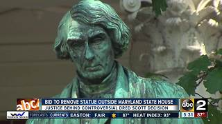 Bid to remove statue from State House grounds - Video