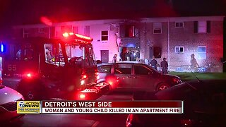 Woman, young child killed in Detroit apartment fire