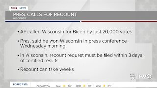 President Trump demands recount