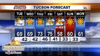 Chief Meteorologist Erin Christiansen's KGUN 9 Forecast Monday, January 15, 2018 - Video