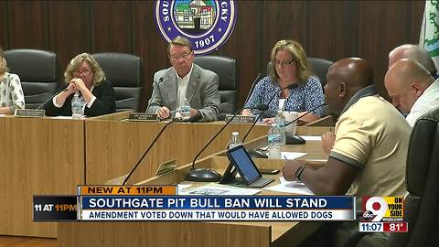 NKY city council votes to keep pit bull ban