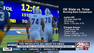 Tulsa natives Justice Hill, D'Angelo Brewer go head-to-head as Oklahoma State hosts Tulsa in season opener - Video