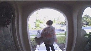 Preventing porch package thefts - Video