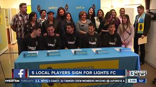 5 locals have signed to play for Las Vegas Lights - Video