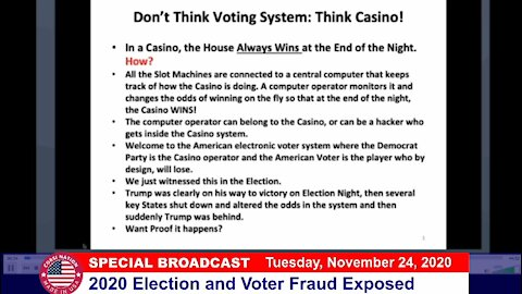 Dr Corsi SPECIAL BROADCAST 11-24-20: 2020 Election and Voter Fraud Exposed