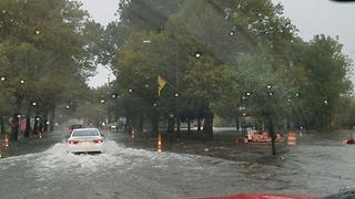 Heavy Rain Floods Streets in Kalamazoo - Video