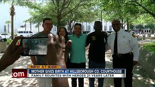 Woman gives birth at Hillsborough Co. Courthouse - Video