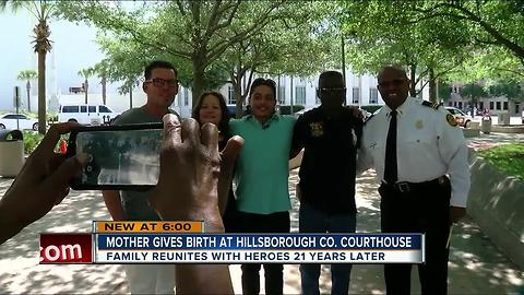 Woman gives birth at Hillsborough Co. Courthouse