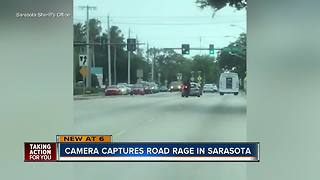 Video shows road rage incident in Sarasota, driver intentionally rams motorcyclist off road - Video