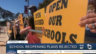 Local school districts' reopening plans rejected by state