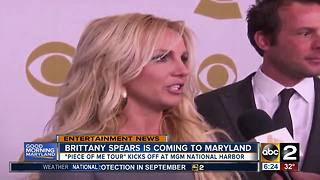 Britney Spears tour to start in Maryland