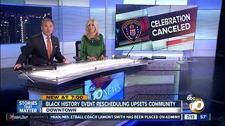 Black History event rescheduling upsets community - Video