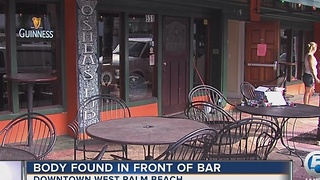 Body found in front of bar - Video