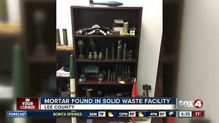 Mortar found in Lee County Business - Video