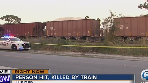 Person struck by train in Jupiter