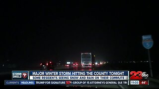 Major winter storm hitting the county