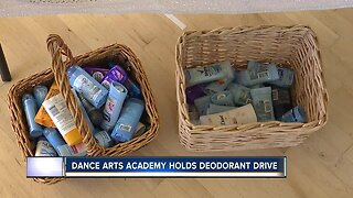 Dance Arts Academy hold deodorant drive for teens in need