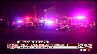 Six hospitalized in south Tulsa apartment fire - Video