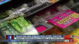 Delano man striking lottery scratcher gold - Video