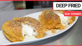 A unique Scottish chippy is defying physics with its new sweet treat - deep fried ICE CREAM