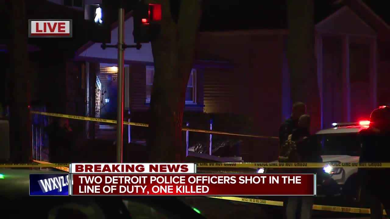 2 Detroit police officers shot in the line of duty, 1 killed