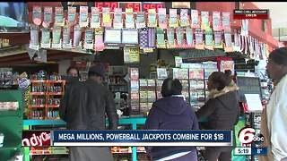Hoosiers rush out to buy Mega Millions and Powerball tickets - Video