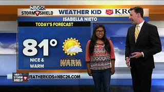 Meet Isabella Nieto, our NBC26 Weather Kid of the Week! - Video