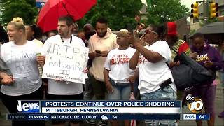 Protests continue over police shooting Pittsburgh