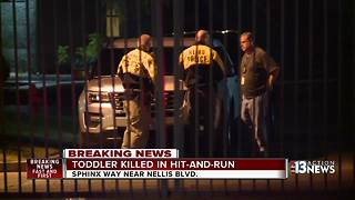 Toddler killed in hit-and-run crash near Cheyenne and Nellis - Video