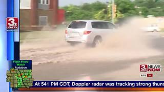 Monday thunderstorm causes flooding in Council Bluffs