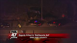 UPDATE: Oakland County Sheriff's Deputy killed during pursuit, may have been deliberate - Video