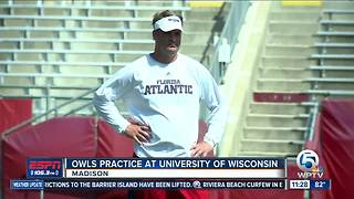 FAU practices in Wisconsin while preparing for Bethune-Cookman - Video