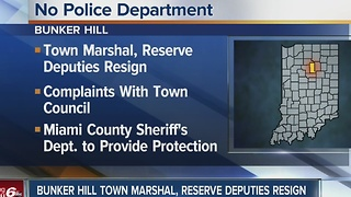 Bunker Hill Town Marshall, reserve deputies resign - Video