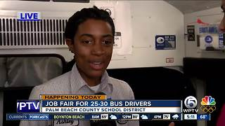 Palm Beach County school district holds bus driver job fair - Video