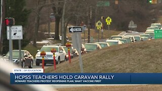 Howard County teachers protest reopening plan