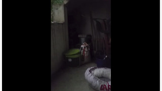 Scared puppy tries to hide in bed from storm - Video
