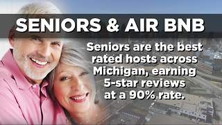 Michigan seniors made $8.5M through home sharing, Airbnb reports - Video