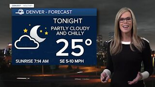 Chilly tonight, snow for Colorado tomorrow