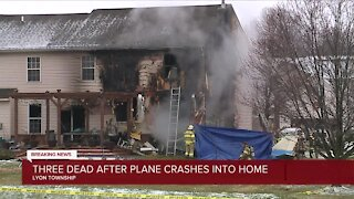 3 dead after plane crashes into home in Lyon Township