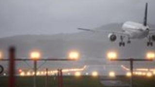 Storm Burglind Wreaks Havoc at Zurich Airport as Pilot Struggles to Land Plane - Video