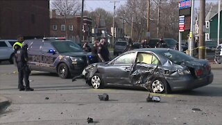 East Cleveland police officer injured after chase ends in crash