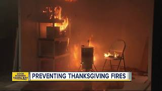Preventing Thanksgiving fires and safety tips for frying a turkey - Video